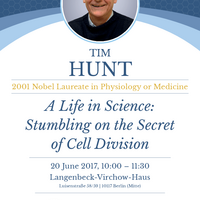 TIM HUNT Nobel Laureate 2001