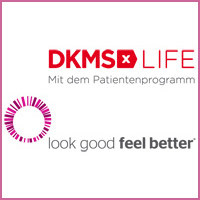Logo DKMS LIFE Patientenseminare Looks good feel better
